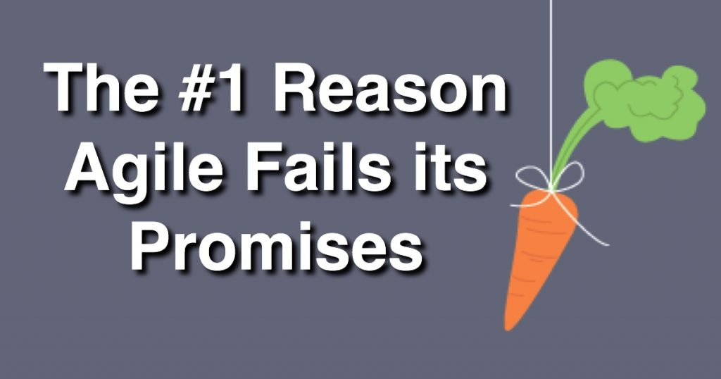 Blog: The #1 Reason Agile Fails its Promises